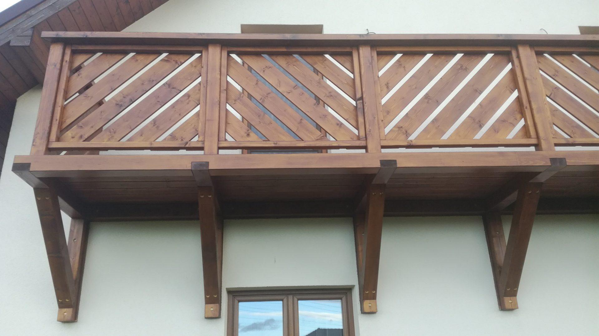 Realizace dřevěného balkónu Sviadnov
