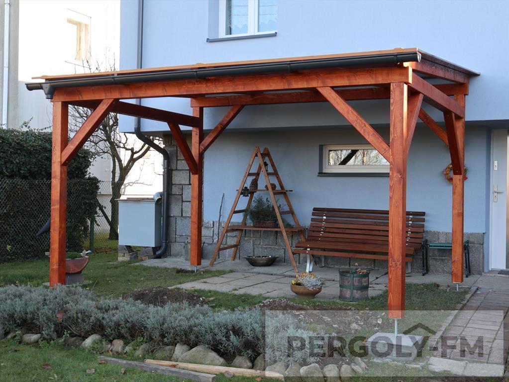 Dřevěná Pergola pokrytá polykarbonátem, Místek